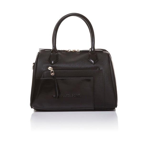 Skórzana torebka do ręki Marta Ponti Classy, czarna