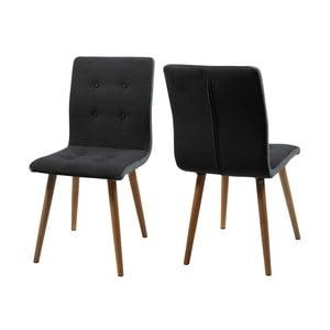 Komplet 2 krzeseł Frida, czarne