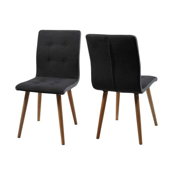 Zestaw 2 ciemnoszarych krzeseł Actona Frida