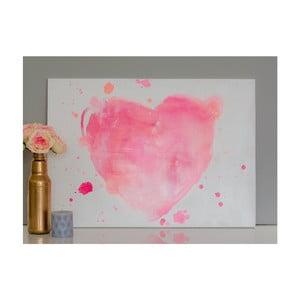 Obraz Pink Heart, 50x70 cm