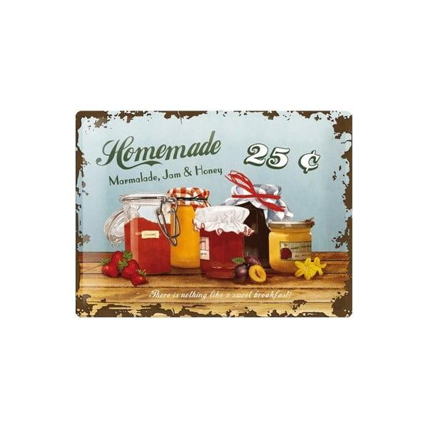 Blaszana tabliczka Homemade, 30x40 cm