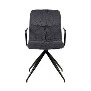 Antracytowe krzesło z podłokietnikami LABEL51 Spike