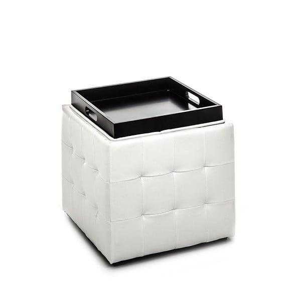 Puf ze schowkiem Tomasucci Case, biały