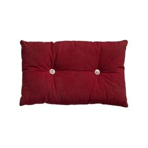 Poduszka z wypełnieniem Button 65x40 cm, czerwona