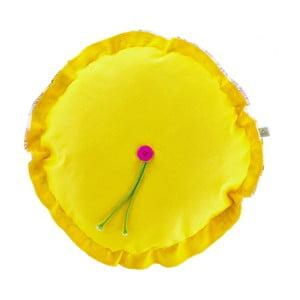 Poduszka z wypełnieniem Melzo Yellow, średnica 40 cm