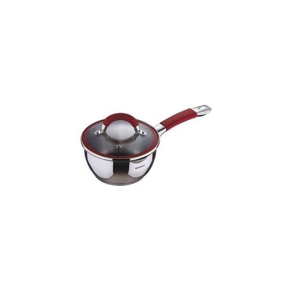 Rondel ze szklaną pokrywką Saucepan Red, 1,4 l