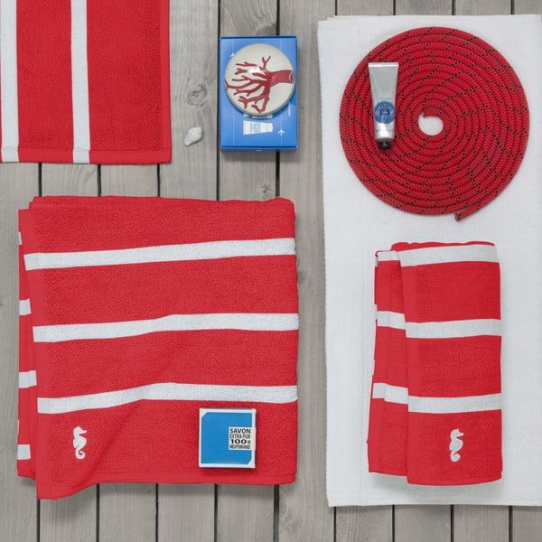 Komplet 3 ręczników Menton Red, 60x110 cm