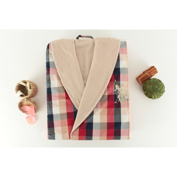 Szlafrok damski U.S. Polo Assn. Morris Cream, roz. L
