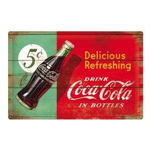 Blaszana tabliczka Coke, 40x60 cm