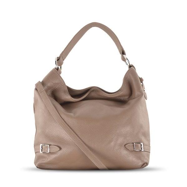 Skórzana torebka Audrey, beżowa