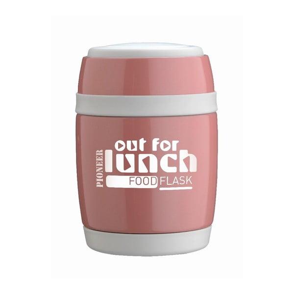 Termos obiadowy z łyżką Pink Lunch, 480 ml