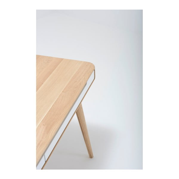 Biurko dębowe Gazzda Ena, 140x60x75 cm