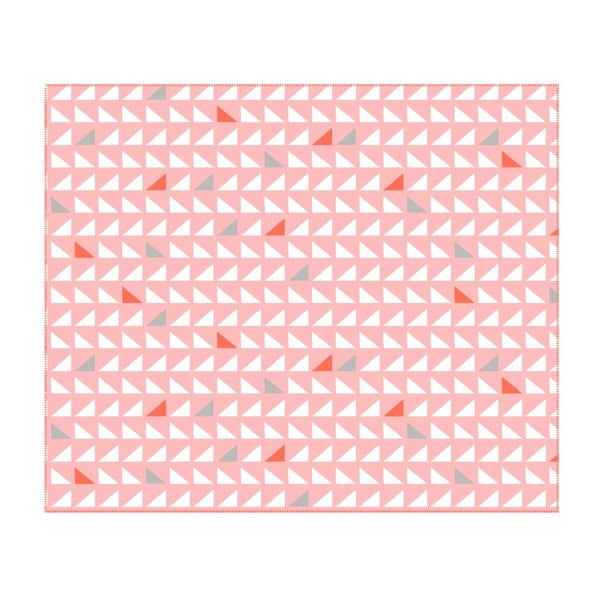 Koc Triangles Pink, 180x150 cm