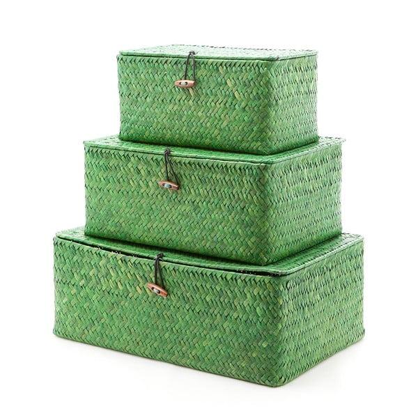 Zestaw 3 pudełek Balk Green