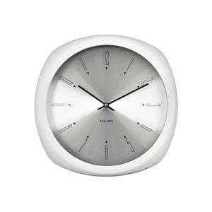 Biały zegar Present Time Aesthetic Square