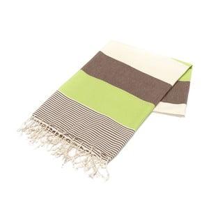 Ręcznik hammam American Fouta Green, 100x180 cm