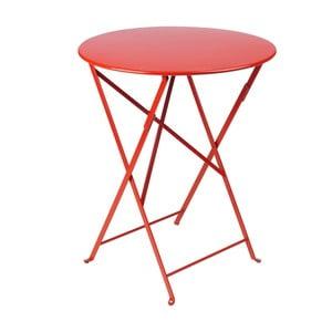 Czerwony składany stół metalowy Fermob Bistro