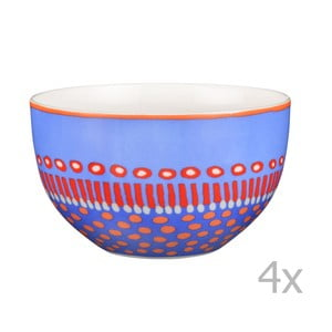 Komplet 4 misek porcelanowych Oilily 12 cm, niebieski
