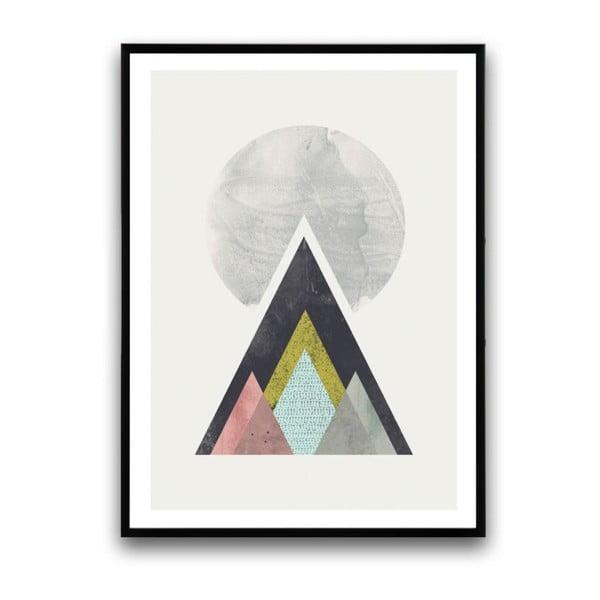 Plakat w drewnianej ramie Agastache, 38x28 cm