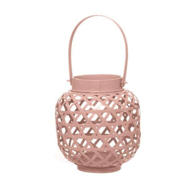 Lampion bambusowy Web Dusty Pink