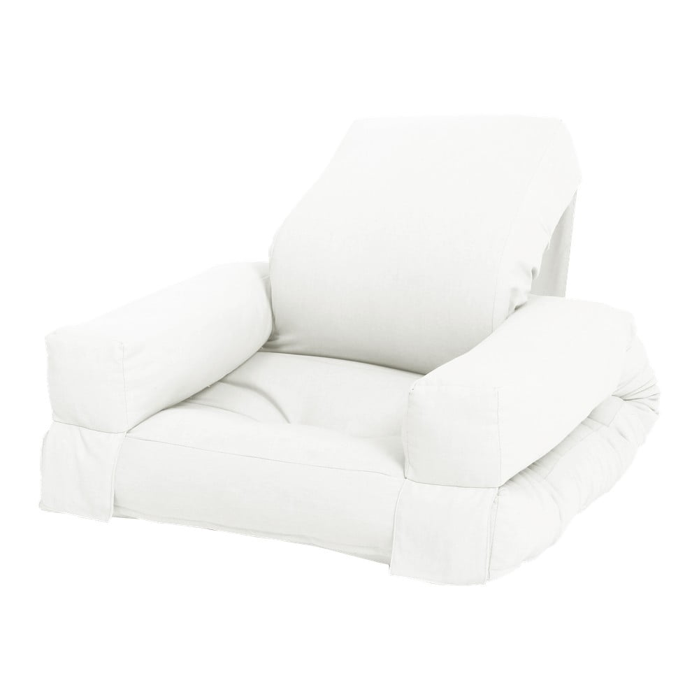 Biały dziecięcy fotel rozkładany Karup Design Mini Hippo Natural