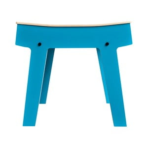 Niebieski stolik/stołek ze schowkiem rform Pi