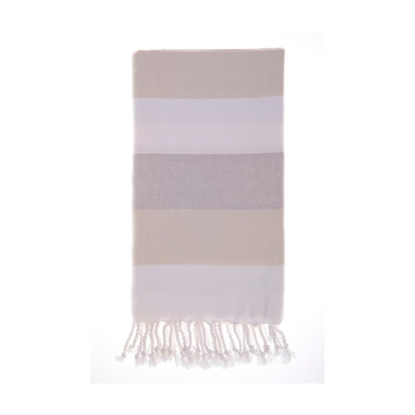Ręcznik hammam Foca Beige, 100x180 cm