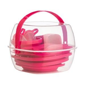 Zestaw piknikowy Premier Housewares Hot Pink, 51 sztuk