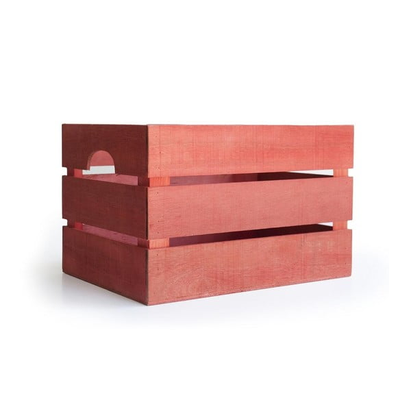 Rustykalna skrzynka drewniana Really Nice Things, czerwona