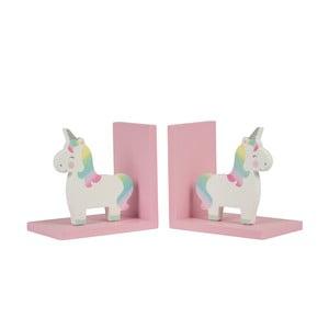 Zestaw 2 przegródek na książki Sass & Belle Rainbow Unicorn