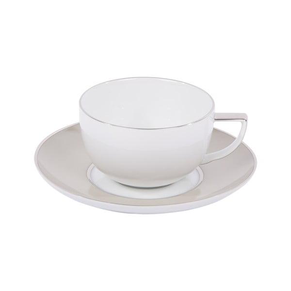Komplet 6 filiżanek do kawy, ze spodkiem, Ramponi Pearl Gray