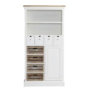 Biblioteczka z szufladami Charlston White, 88x169x34 cm