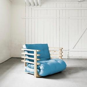 Fotel rozkładany Karup Funk Natural/Horizon Blue