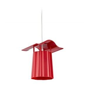 Czerwony ogrodowy lampion wiszący Luciana