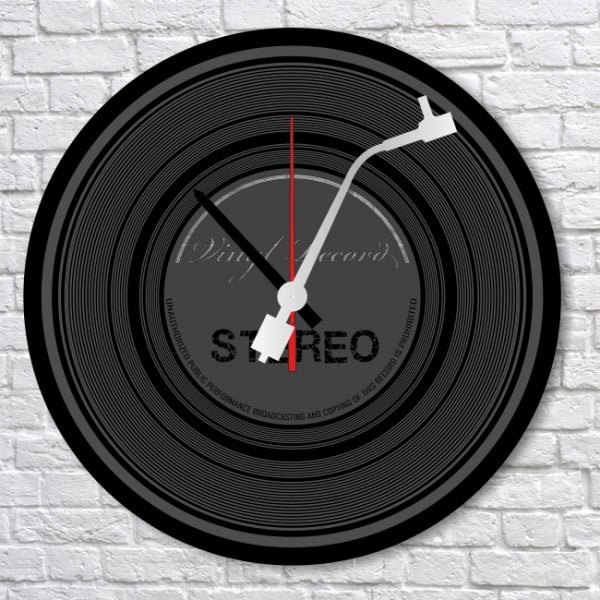 Zegar ścienny Vinyl