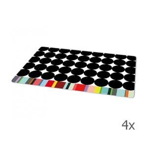 Zestaw 4 mat stołowych Scoop, 44x28,4 cm