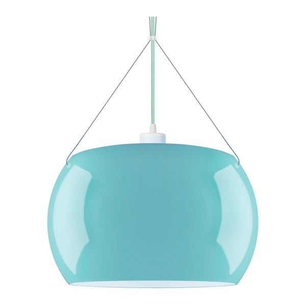 Jasnoniebieska błyszcząca lampa wisząca Sotto Luce MOMO
