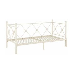 Białe rozkładane łóżko jednoosobowe Støraa Johnson, 90/180x200cm