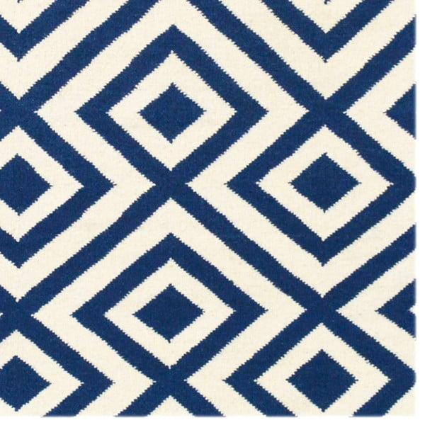 Dywan wełniany Luisa Dark Blue, 200x140 cm