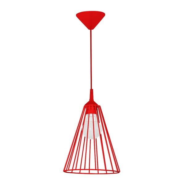 Czerwona lampa wisząca Leonis