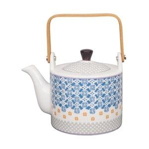 Niebiesko-biały dzbanek do herbaty Tokyo Design Studio Baobab, 800 ml