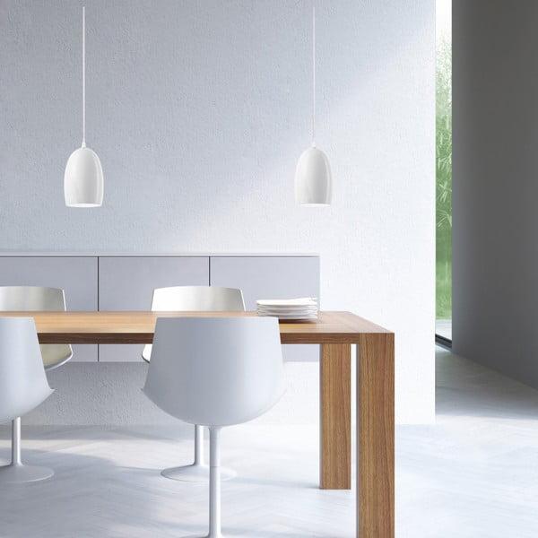 Biała lampa wisząca Sotto Luce UME