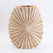 Ceramiczny wazon, beżowy/brązowy, 24,5 cm
