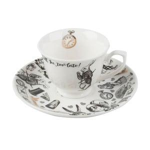 Porcelanowa filiżanka ze spodkiem Creative Tops Alice in Wonderland, 100ml