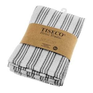 Komplet 4 szarych bawełnianych ścierek Tiseco Home Studio, 50x70 cm