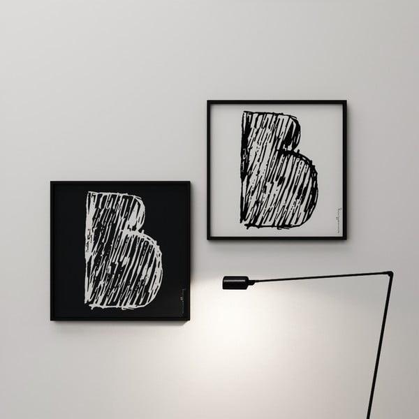Plakat Litera B, 50x50 cm