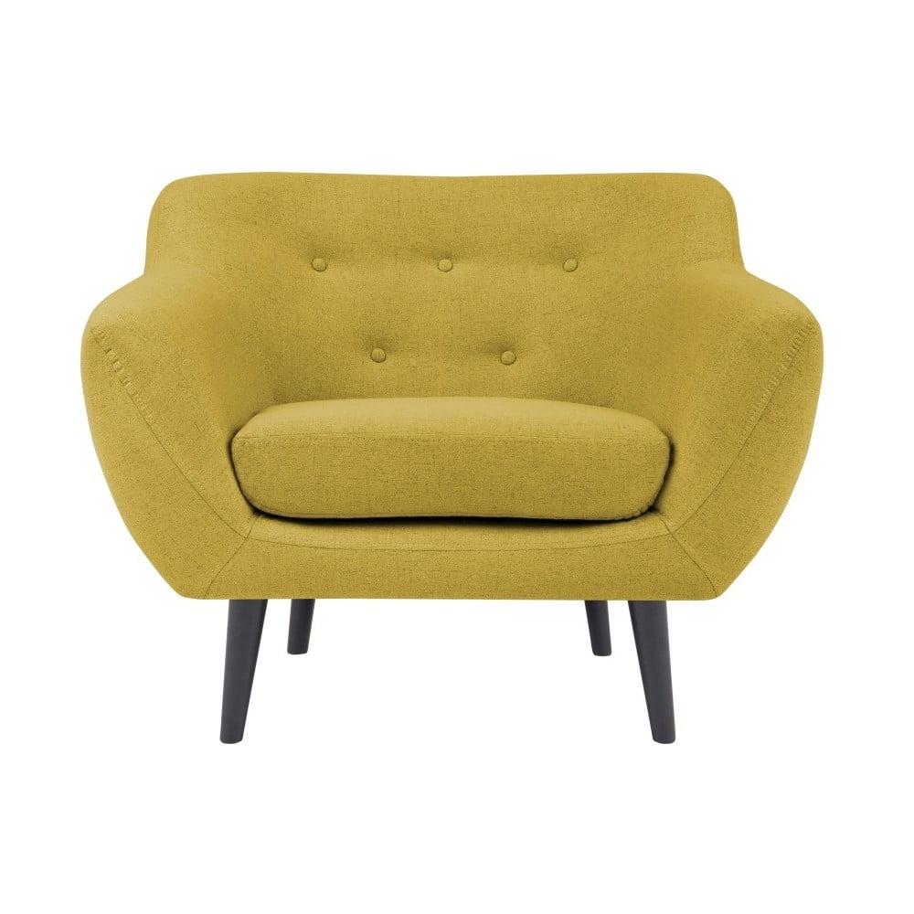 Żółty fotel Mazzini Sofas Piemont