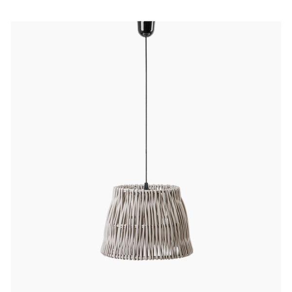 Lampa wisząca Line, 40x27 cm, szara