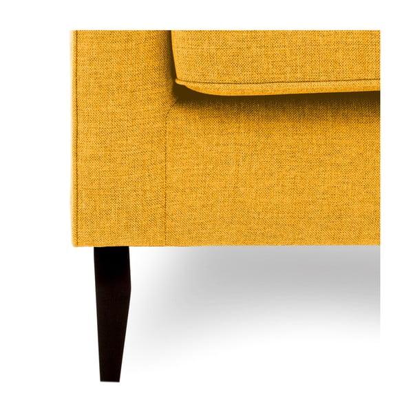 Musztardowa sofa trzyosobowa Vivonita Bond