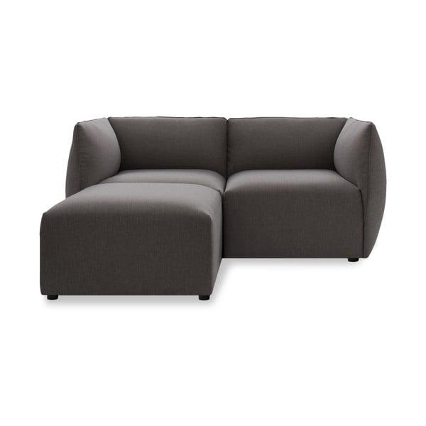Sofa dwuosobowa VIVONITA Cube Dark Grey z podnogiem